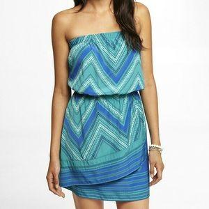 Express Handkerchief Strapless Dress